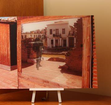 Direct photographic print on plexiglass sheet