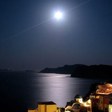 σαντορίνη, νυχτερινή φωτογραφία