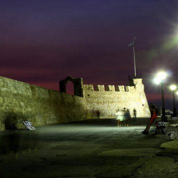 το κάστρο, χανιά, νυχτερινή φωτογραφία